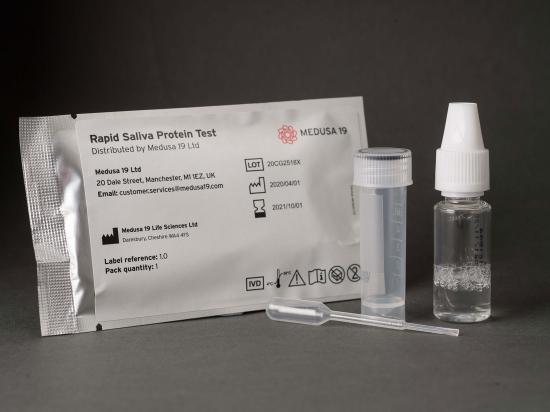 Prueba rápida de proteína de saliva
